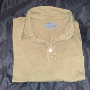 J. Crew Crewcuts long sleeve polo sz 14 Olive